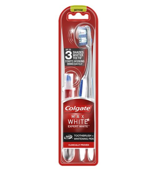 Colgate Max White Expert Toothbrush & Whitening Pen