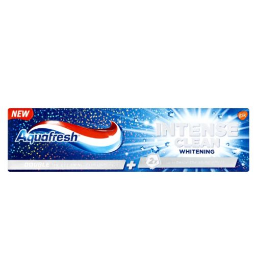 Aquafresh Intense Clean Whitening Flouride Toothpaste - 75ml