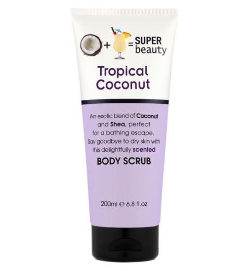 Super Beauty Tropical Coconut Body Scrub 200ml