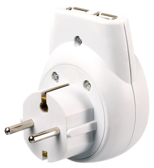 Go Travel UK to US Americas AUS Adaptor with Twin USB