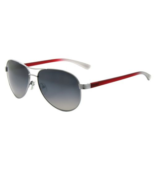 Ted Baker Mens Black and Red Aviator Sunglasses