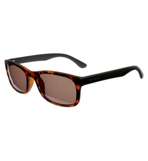 Ted Baker Mens Tort Wayfarer Sunglasses