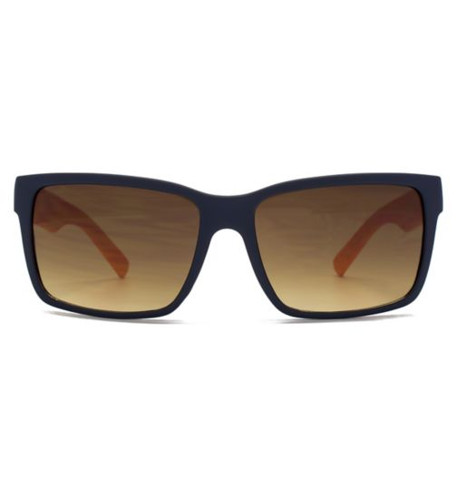 Monkey Monkey Boys Square Plastic Navy Sunglasses