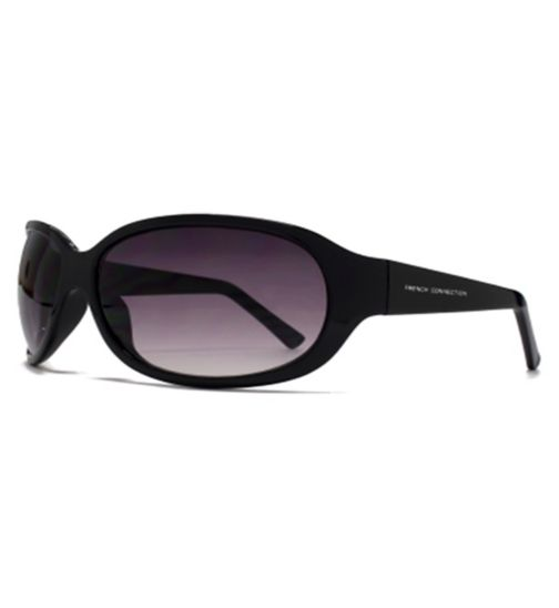 French Connection Woman Classic Black Wrap Sunglasses