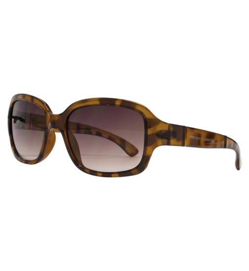 French Connection Woman Tort Rectangle Sunglasses