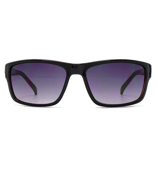 French Connection Man Classic Black Plastic Rectangle Sunglasses