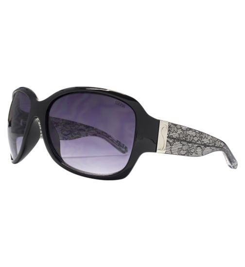 Sunna Woman Square Black Sunglasses with Lace Arms