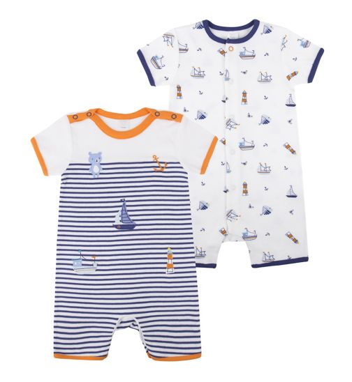 Mini Club Baby Boys Romper 2 Pack