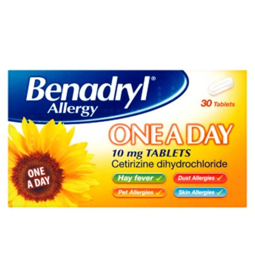 Benadryl Allergy One-a-day 10mg - 30 Tablets
