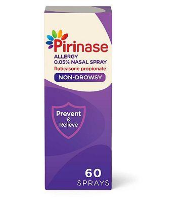 Pirinase Allergy Relief Fluticasone Propionate 0.05% Nasal Spray 60 Sprays