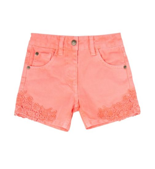 Mini Club Girls Denim Short Coral Pink
