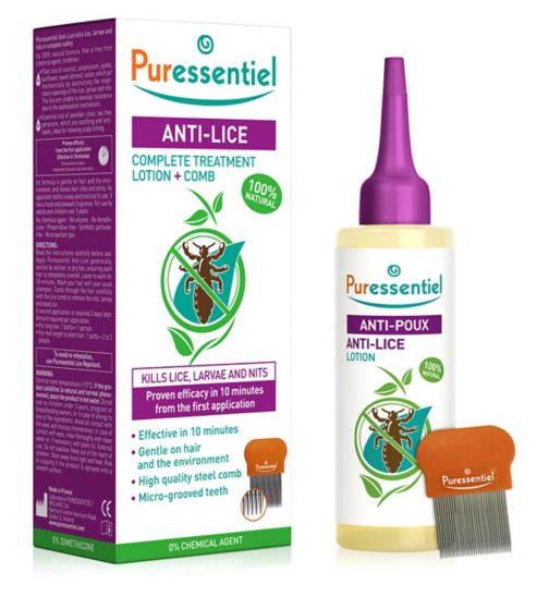 Puressentiel Anti-Lice Treatment Lotion and Comb - 100 ml