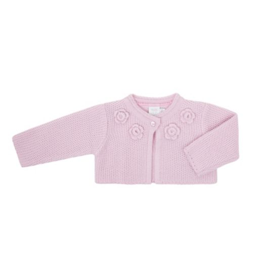 Mini Club Baby Girls Cardigan Knitted Pink