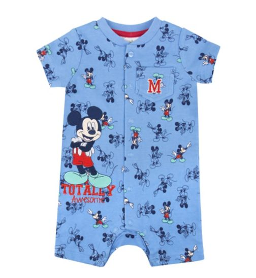 Mini Club Baby Boys Romper Mickey Mouse