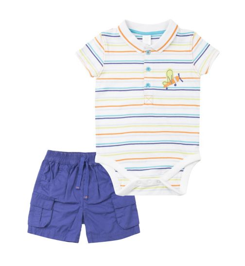 Mini Club Baby Boys Romper and Short Set