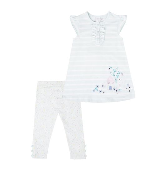 Mini Club Baby Girls Dress and Legging Set