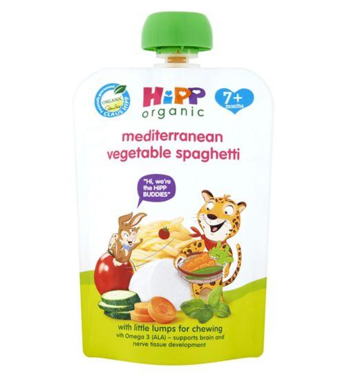 HiPP Organic Mediterranean Vegetable Spaghetti 7+ Months 130g