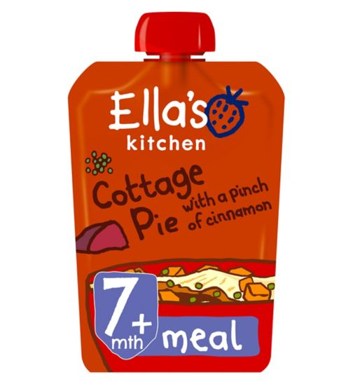 Ella's Kitchen Seriously Comforting Cottage Pie with a Pinch of Cinnamon from 7 Months 130g