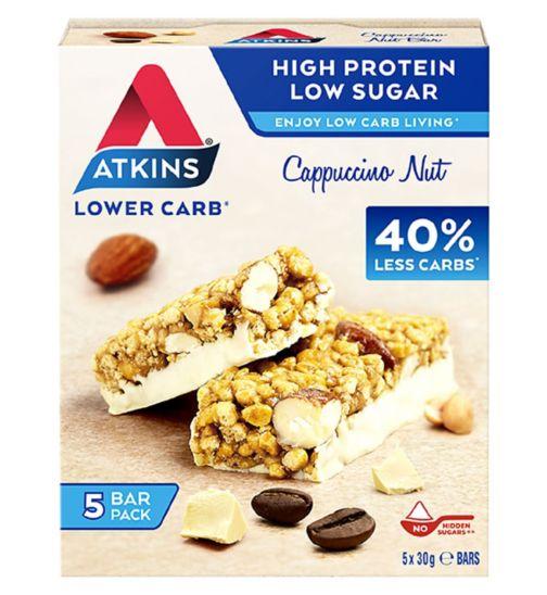 Atkins Cappuccino Nut Bar 5 x 30g