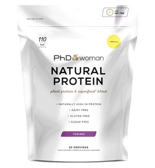 PhD Woman Natural Protein Vanilla 600g