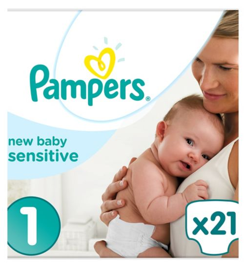 Pampers New Baby Sensitive Size 1,21 Nappies,2-5kg,Absorbing Channels