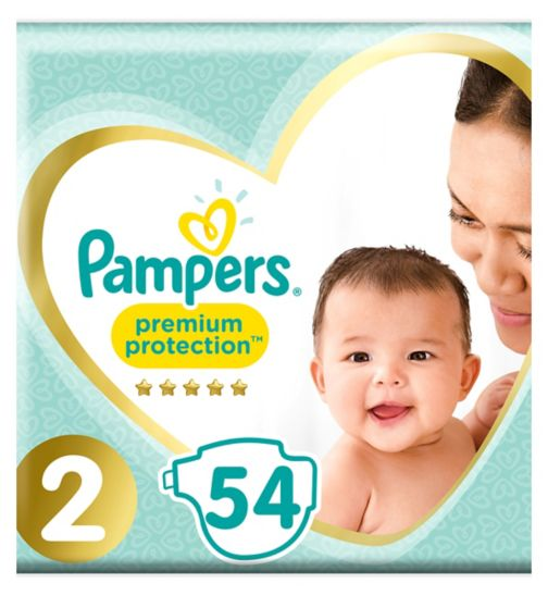 Pampers New Baby Size 2, 54 Nappies, 3-6kg,With Absorbing Channels