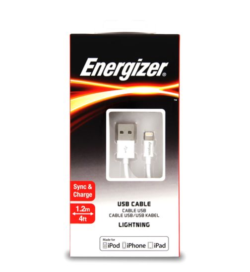 Energizer Apple 1.2M Lightning Cable White