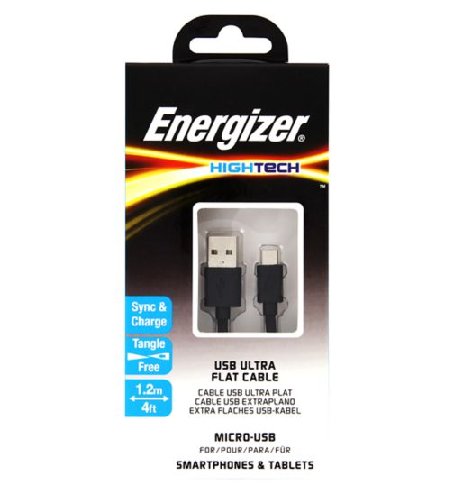 Energizer Micro USB Cable Black 1.2m