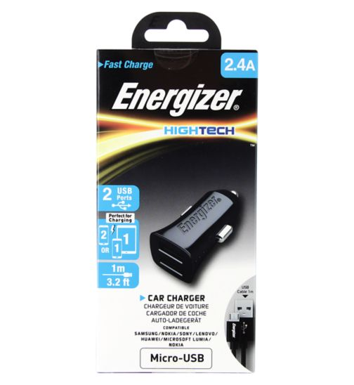 Energizer USB In Car Charger With Micro USB