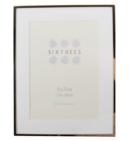 Six Trees Park Lane Rose Gold Frame 7 x 5