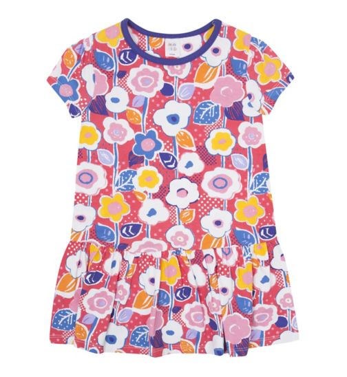 Mini Club Girls Tunic Red Floral