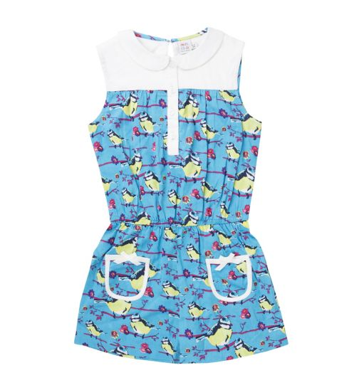 Mini Club Girls Playsuit Bird Print
