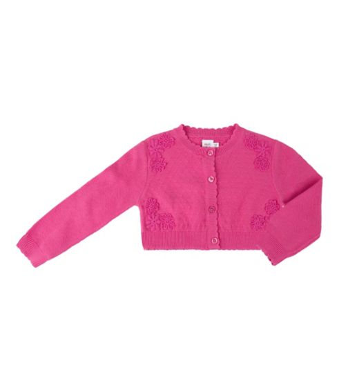 Mini Club Girls Cardigan Pink Cropped
