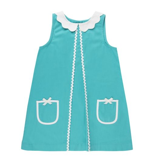 Mini Club Girls Cyan Dress