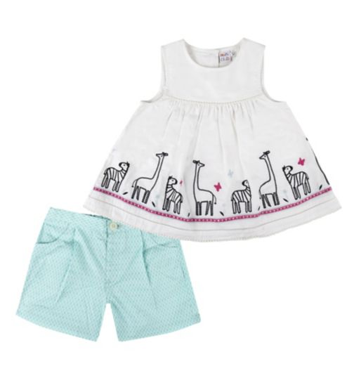 Mini Club Girls Safari Top and Short Set