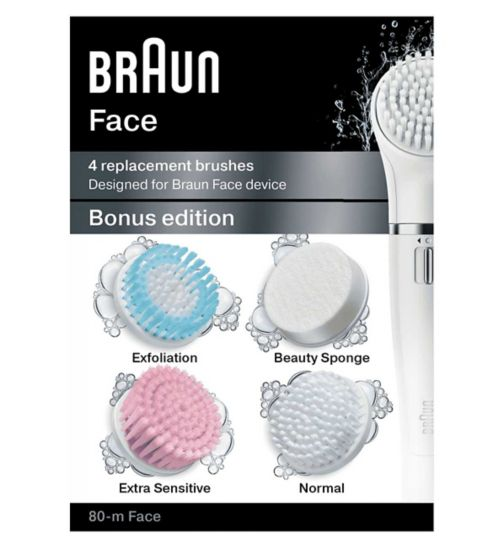 Braun Silk Epil Face Bonus edition - 4 replacement brushes