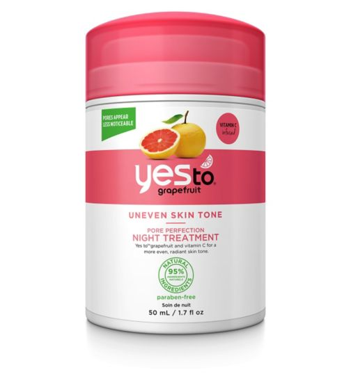 Yes to Grapefruit Pore Perfection Night Treatment 50ml for Uneven Skin Tone