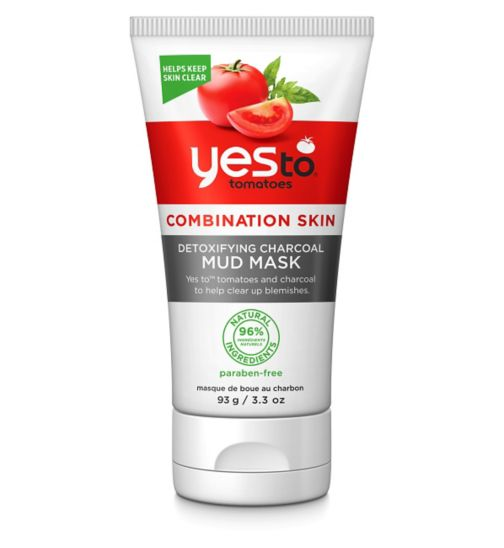 Yes to Tomatoes Detoxifying Charcoal Mud Mask 93gr for Combination Skin