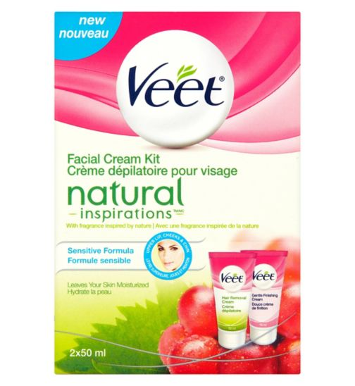Veet Natural Inspirations Facial Hair Removal Kit 50ml