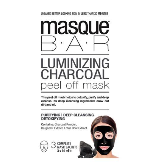 Masque Bar Luminizing Charcoal Peel Off Mask - 3 masks
