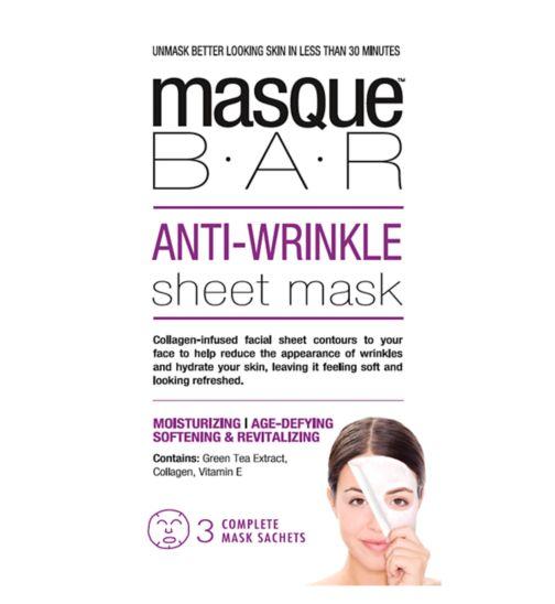 Masque Bar Anti Wrinkle Sheet Mask - 3s