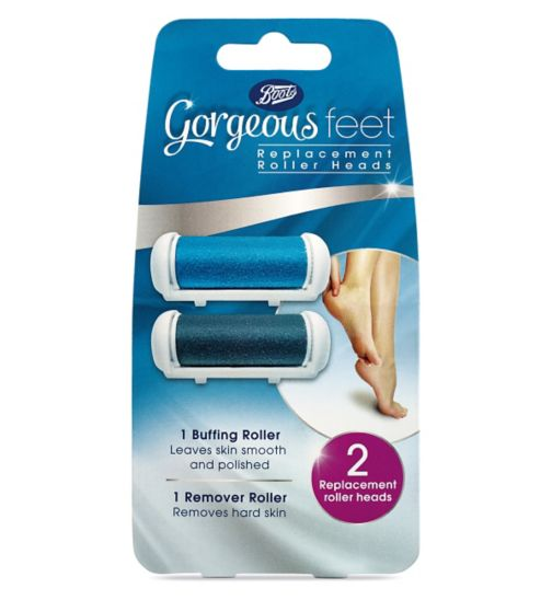 Boots Gorgeous Feet Replacement Roller Heads x 2