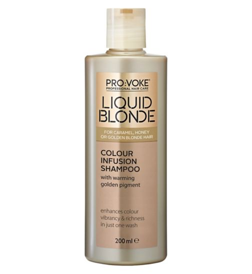 PRO:VOKE Liquid Blonde Colour Infusion Shampoo 200ml