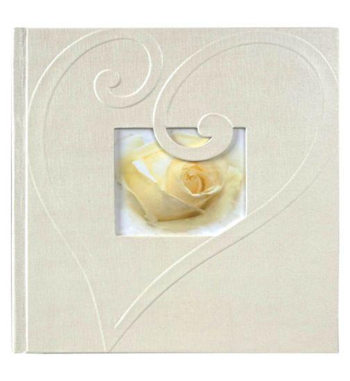 Innova wedding heart paper swirl memo 15x10cm 6x4 slip in 200 photo album