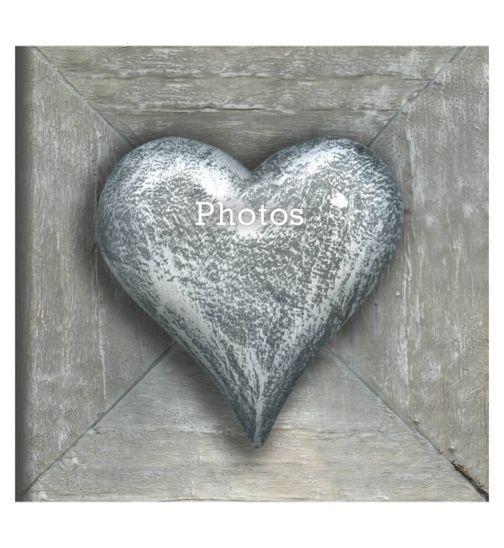Innova stone heart memo 15x10cm 6x4 slip in 140 photo album