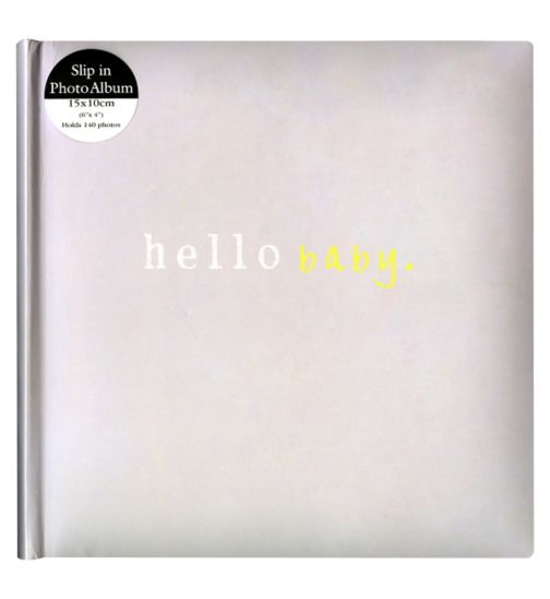 Anker hello baby grey album 15x10cm 6x4 140 photos