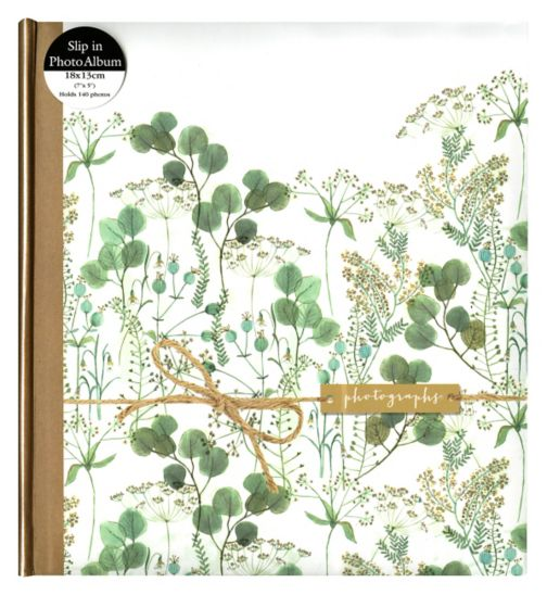 Green Floral Watercolour with Kraft Sleeve 7x5 - 140 Photos