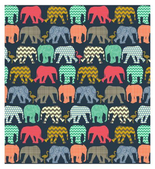 Innova elephants navy memo 15x10cm 6x4 slip in 140 photo album