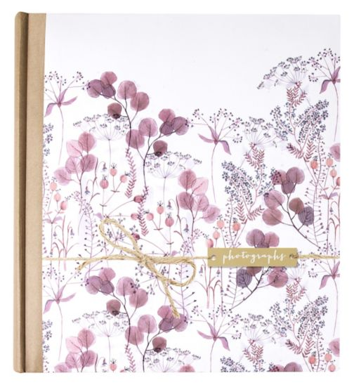 Pink Floral Watercolour With Kraft Sleeve 7x5