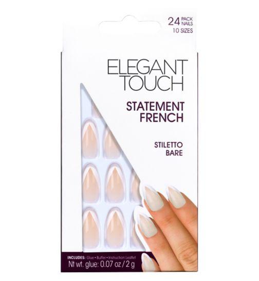 Statement French Nails - Stiletto Bare